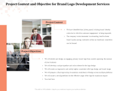 Logo Design Project Context And Objective For Brand Logo Development Services Introduction PDF