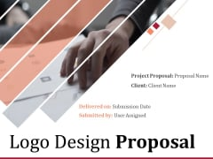 Logo Design Proposal Ppt PowerPoint Presentation Complete Deck With Slides