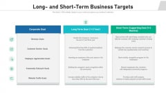 Long And Short Term Business Targets Ppt Model PDF