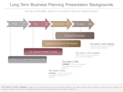 Long Term Business Planning Presentation Backgrounds