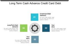 Long Term Cash Advance Credit Card Debt Statistics Ppt PowerPoint Presentation Show Design Ideas