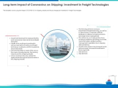 Long Term Impact Of Coronavirus On Shipping Investment In Freight Technologies Portrait PDF