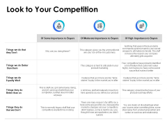 Look To Your Competition Ppt PowerPoint Presentation Clipart