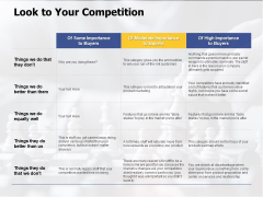 Look To Your Competition Ppt PowerPoint Presentation Professional File Formats