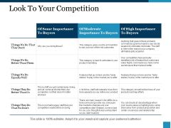 Look To Your Competition Ppt PowerPoint Presentation Visual Aids Show