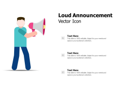 Loud Announcement Vector Icon Ppt PowerPoint Presentation Inspiration Graphics