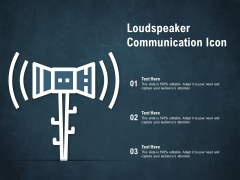 Loudspeaker Communication Icon Ppt PowerPoint Presentation Professional Slide Portrait