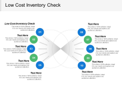 Low Cost Inventory Check Ppt PowerPoint Presentation Outline Gridlines Cpb
