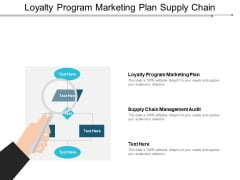Loyalty Program Marketing Plan Supply Chain Management Audit Ppt PowerPoint Presentation Infographic Template Gallery
