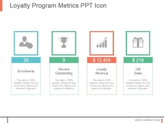 Loyalty Program Metrics Ppt Icon