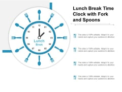Lunch Break Time Clock With Fork And Spoons Ppt PowerPoint Presentation File Portrait