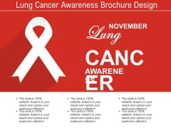 Lung Cancer Awareness Brochure Design Ppt PowerPoint Presentation File Gallery PDF