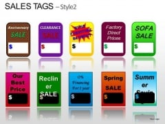 Labels Sales Tags PowerPoint Slides Clipart
