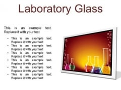 Laboratory Glass Science PowerPoint Presentation Slides F