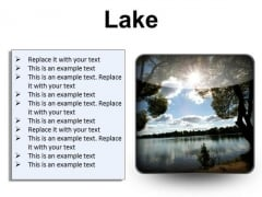 Lake Nature PowerPoint Presentation Slides S