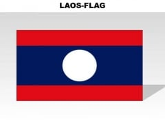 Laos Country PowerPoint Flags