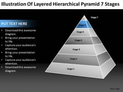 Layered Hierarchical Pyramid 7 Stages Ppt Business Plan For Dummies PowerPoint Slides