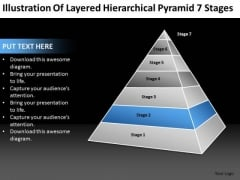 Layered Hierarchical Pyramid 7 Stages Ppt Business Plan Templete PowerPoint Templates