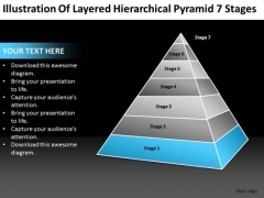 Layered Hierarchical Pyramid 7 Stages Ppt Massage Business Plan PowerPoint Slides