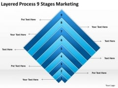 Layered Process 9 Stages Marketing Ppt Import Export Business Plan PowerPoint Slides