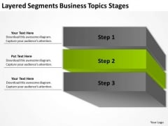 Layered Segments Business Topics Stages Plan Programs PowerPoint Templates
