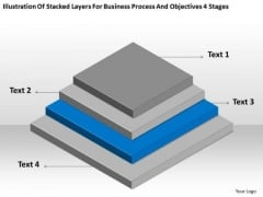 Layers For Business Process And Objectives 4 Stages Ppt Plan PowerPoint Slides