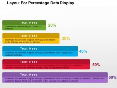 Layout For Precentage Data Display PowerPoint Template