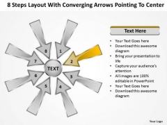 Layout With Converging Arrows Pointing To Center Ppt Circular Network PowerPoint Slides