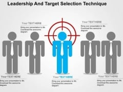 Leadership And Target Selection Technique PowerPoint Template