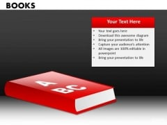 Learning Alphabets Books PowerPoint Ppt Templates
