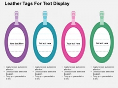 Leather Tags For Text Display PowerPoint Templates