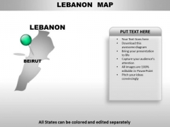 Lebanon Country PowerPoint Maps