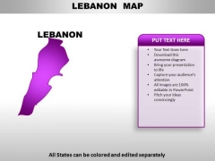 Lebanon PowerPoint Maps