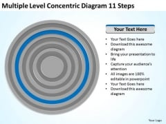 Level Concentric Diagram 11 Steps Ppt Simple Business Plan Template PowerPoint Slides