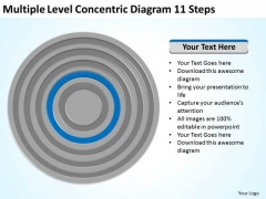 Level Concentric Diagram 11 Steps Ppt Small Business Plan Template Free PowerPoint Slides