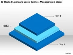 Levels Business Management 3 Stages Ppt Plan Template PowerPoint Templates