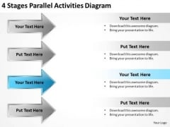 Levels Of Parallel Processing 4 Stages Activities Diagram PowerPoint Templates