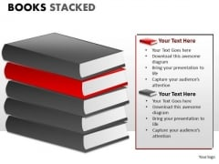 Library Books Stacked PowerPoint Slides And Ppt Diagram Templates