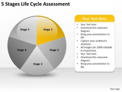 Life Cycle Assesment Examples Of Business Plans For Small PowerPoint Templates