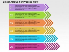 Linear Arrows For Process Flow PowerPoint Template