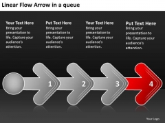 Linear Flow Arrow Queue Bsuiness Proto Type PowerPoint Templates