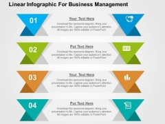 Linear Infographic For Business Management PowerPoint Template