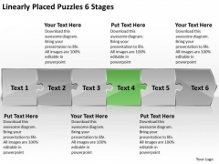 Linearly Placed Puzzles 6 Stages Inspection Business PowerPoint Slides