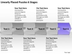 Linearly Placed Puzzles 6 Stages Ppt It Support Flow Chart PowerPoint Templates