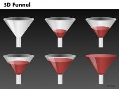 Liquid Funnel Diagram For Ppt Presentations