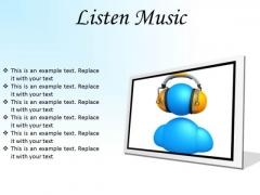 Listen Music Entertainment PowerPoint Presentation Slides F