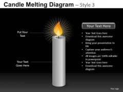 Lit Candle PowerPoint Templates Ppt