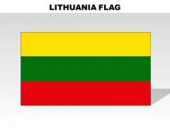 Lithuania Country PowerPoint Flags