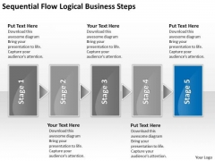 Logical Business PowerPoint Presentations Steps Need Plan Templates