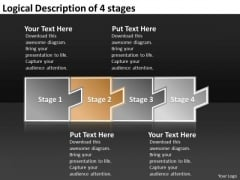 Logical Description Of 4 Stages Creating Flowchart PowerPoint Slides